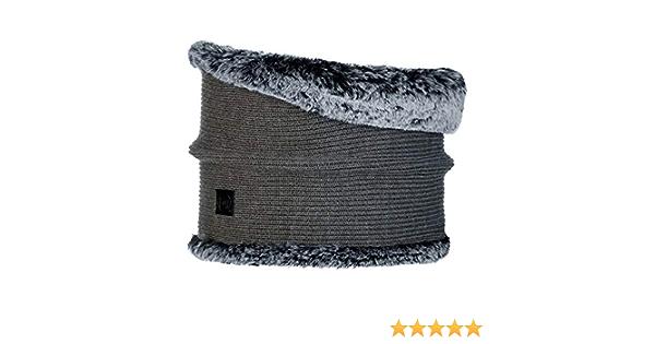 Tubolare Donna Taglia Unica Grigio Original Buff Buff Knitted /& Fake Fur Neckwarmer Comfort Kesha Grey