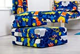 Jungle Fever Animals Print Childrens Single Fold Out Foam Z Bed Guest Mattress Chair Bed