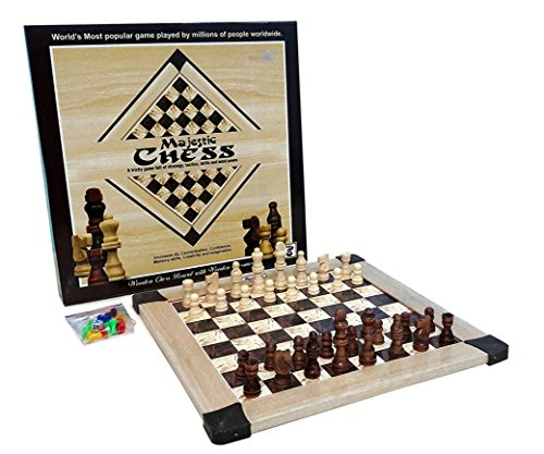Bonkerz Wooden Majestic Chess With Wooden Chessmen Family Board Game  available at amazon for Rs.399