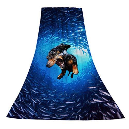 Wuraxy Badetuch zum Bedrucken von Badetüchern 75 * 150cm mit Tierfitnessschal
