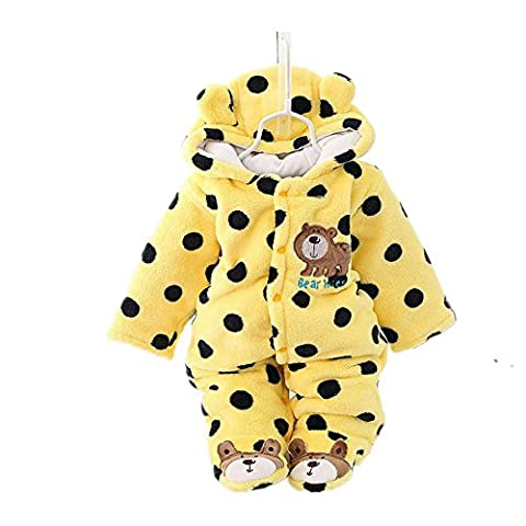 Pormow Herbst-winter Verdickte Warm Unisex Baby Overall Cartoon Kinderkleidung