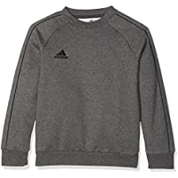 adidas CORE18 Y Sudadera, Unisex Niños, Gris (Dark Grey Heather/Black), M (9-10 años)