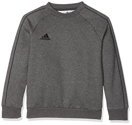 adidas Kinder Core18 SW Top Y Sweat-Shirt, Grau (dark grey heather/Black), L (11-12 Jahre)