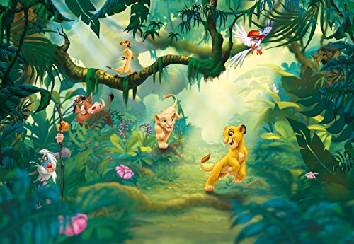 Preisvergleich Produktbild Fototapete Kindertapete LION KING JUNGLE 368x254 König der Löwen 8-tlg Dschungel Tiere