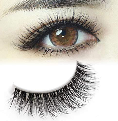 Drawihi 10 Paar Kreuzen Falsche Wimpern Künstliche Wimpern Weiche Natürliche Lange Augen Lash Makeup für(Schwarzes) (Realistische Wimpern)