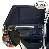 """Sundell 2 Pack Sonnenschutz Auto - UV Schutz Sonnenrollo Autofenster für Kinder Baby Erwachsene Haustiere - Tragbare Auto Sonnenblende - 40""""x20"""" für Die Meisten Auto"""