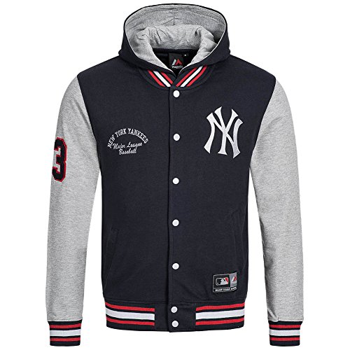 Majestic MLB New York Yankees Refete HD Letterman College Jacke Jacket