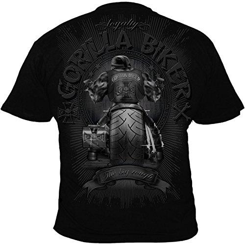 Silberrücken GB40 Gorilla Biker Big Wheel Herren T-Shirt Schwarz