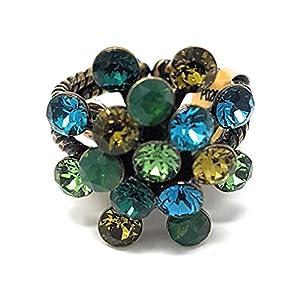 KONPLOTT Magic Fireball Ring verstellbar, Glas grün-multi -5450543145563