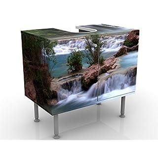 Design Vanity National Park 60x55x35cm, small, 60cm wide, adjustable, wash basin, vanity unit, washstand, bathroom cupboard, base unit, bathroom, narrow, flat