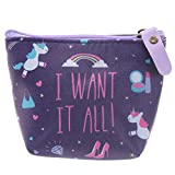 Grindstore Damen Geldbörse I WANT IT ALL Unicorn PVC 11 x 9,5 cm