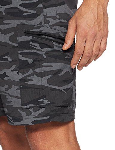 Columbia Herren Silber Ridge bedruckt Cargo Shorts Camouflage noir