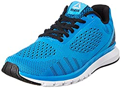 Reebok Mens Reebok Print Smooth Ultk Blue, Black and Wht Running Shoes - 10 UK/India (44.5 EU) (11 US)