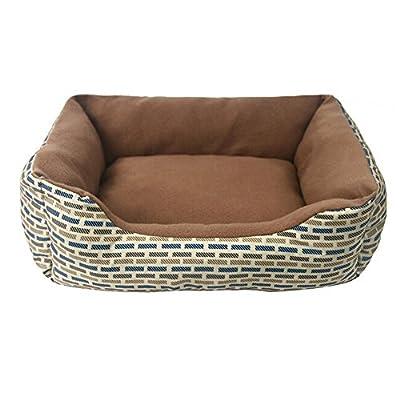 tinymax mascota perro gato Rectángulo Mascotas Perro Gato perrera en forma de U cama casa suave telas PP algodón lunares estilo diseño