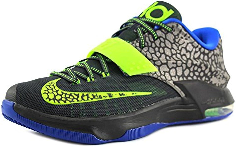 Kd Vii Herren Basketball Schuhe 653996 030 Metallic Zinn Anthrazit Lyon Blau Flash Lime 13 M Us