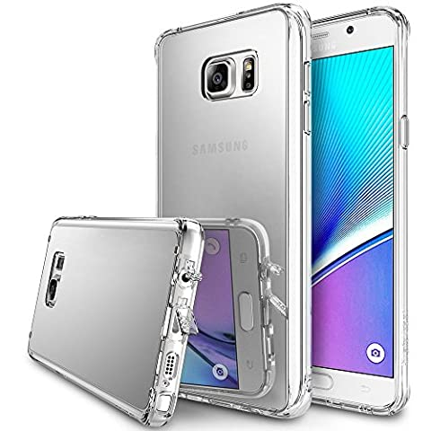 Ringke FUSION MIRROR Case Galaxy Note 5 Hülle Cover [Neu Staub Kappe][CRYSTAL VIEW] Spiegelnder Ultra Slim Bumper Hard Case Schutzülle für Samsung Galaxy Note