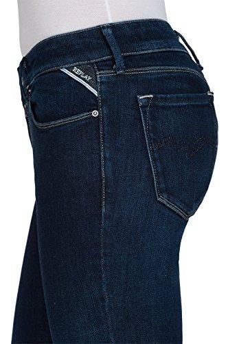 REPLAY Teena, Jeans a Zampa Donna Blu (Dark Blue 7)