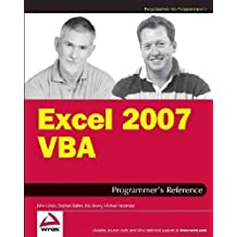 (Excel 2007 VBA Programmer's Reference) By Green, John (Author) Paperback on (03 , 2007)