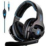 Gaming-Kopfhörer Für Ps4, Computer-Fernbedienung Mit LED-Headset Für Den Kopf, Komfortable Geräuschunterdrückung, Kristallklarheit 3,5 Mm, Schwarz Kopfhörer