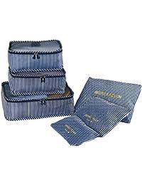 cbc3f96b4ae7e Kleidertaschen-Set 6-teilig Reisetasche in Koffer Wäschebeutel Schuhbeutel  Kosmetik Aufbewahrungstasche Farbwahl