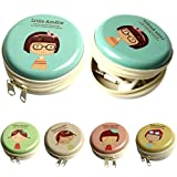 Moca Multicolor Metal Tin Case Pouch For Earphone Pouch Case (Pack Of Any 2 Random Prints, Flower Girls)