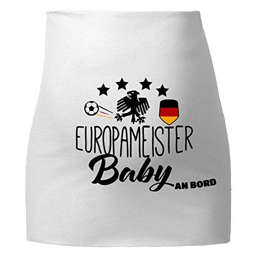 Mikalino Bauchband Europameister Baby an Bord , Farbe:weiss;Grösse:L/XL