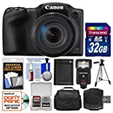 Best Selling Canon PowerShot SX420 IS Wi-Fi Digital Camera (Black) with 32GB Card + Case + Flash + Battery + Tripod + Kit be sure to Order Now