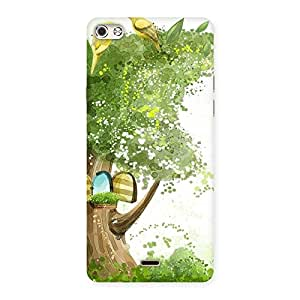 Birds on Tree Back Case Cover for Micromax Canvas Silver 5