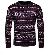 JYJM 2018 Weihnachten Herren V Herbst Winter Pullover Strickoberteil Gestreifter Pullover Outwear Bluse Wintermantel Herren, Langer Mantel Revers Parka Jacke StrickjackeOutwear Wildleder Shearling