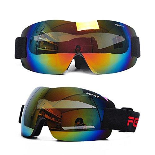 elegantstunning Neue 2017 männer frauen ski brillen skibrille brille 6 farben erhältlich 039 schwarz