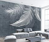 Fototapete Vlies Tapete 3D wallpaper Wanddeko Design Moderne Anpassbare Wandbilder Moderne Einfach Nordischen Stil Weiße Feder Textur Tv Hintergrund Tapete
