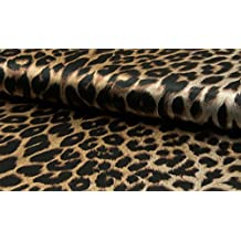 Fabrics de City negro/beige inoxidable impresa satén plástico leopardo. Satén plástico policíclicos, 4376