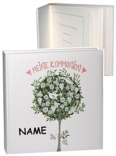 """Kommunionsalbum / Fotoalbum - """" meine Kommunion """" - incl. Name - für bis zu 180 Bilder - Fotobuch / Photoalbum / Album - Gebunden zum Einkleben - blanko - für Mädchen & Jungen Kinder - Kirche / Erstkommunion"""
