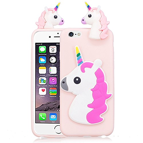 Coque iPhone 6 , Etui iPhone 6S , CaseLover 3D Etui Coque TPU Slim pour Apple iPhone 6 / Apple iPhone 6S (4.7 pouces) Mode Flexible Souple Soft Case Couverture Housse Protection Anti rayures Mince Tra Licorne