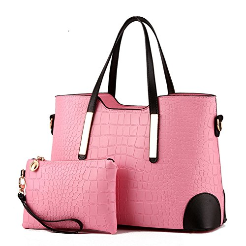 Fanhappygo Fashion Spell Colore Retro In Pelle Caramelle Borse Da Sera Borse A Tracolla Da Donna Borse A Spalla Rosa
