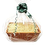 Homemade Hamper Kit – Large Willow Basket – Green, Cream