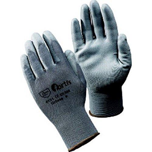 Gant en tricot avec polyuréthane à tricot fin, gris, Taille : 11 (par 10)