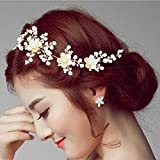 VOGUE Hair Accessories Gold Plated Brass Hair Clip and Headband for Women