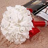 Generic Bridal Colourfast Foam Roses Artificial Silk Flower Party Wedding Bride Bouquet