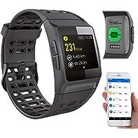 newgen medicals Smartwatch GPS: GPS-Sportuhr, Bluetooth, Fitness, Puls, Nachrichten, Farbdisplay, IP68 (Laufuhr)