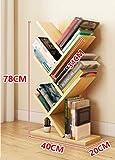 ZCJB Bücherregal Einfache Bücherregal Baum Kleine Bücherregal Kinder Staffelei Student Office Lagerregal ( Farbe : Light walnut )