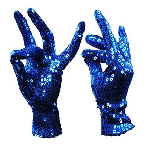 Elegantstunning shimmer paillettes costume guanti halloween masquerade party guanti forniture accessorio decor 1 paia