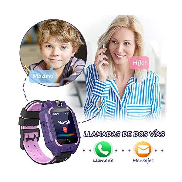 BANLVS Smartwatch Niños, 2019 Nuevo Reloj Inteligente Niños con Flashlight, IP67 LBS SOS, Cámara, Smartwatch con Ranura… 4