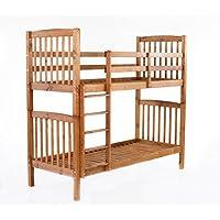 Preisvergleich für Ambientehome 90418 Bett, Holz, braun, Twin-Bed, 213 x 98.5 x 190 cm