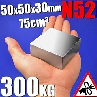 aomag Rare Earth Neodym-N52Bar Block rechteckig Magnet 50x 50x 30mm
