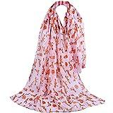 TianWlio Frauen Schals Frauen Neue Mode gedruckt weichen Chiffon Schal Wraps Schal Schals