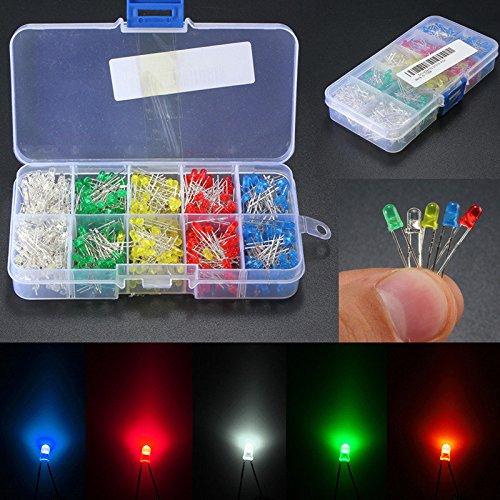 bazaar-500pcs-3mm-led-licht-weiss-gelb-rot-blau-grun-diy-sortiment-dioden-kit