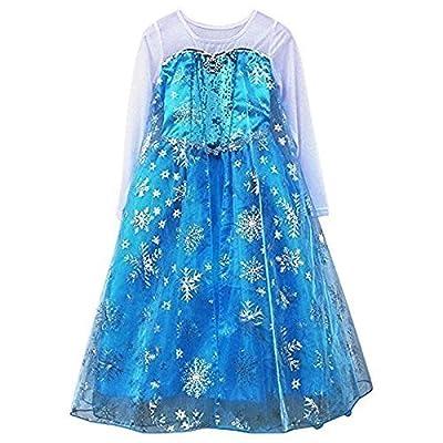 Reina Elsa De Frozen Disney Estilo Niñas Princesa Disfraces 7-8 años por Fuwin