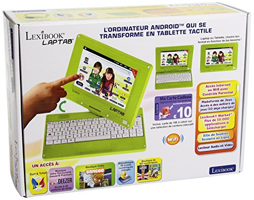 Lexibook – MFC140FR Rotating Computer Screen Children's Touch Tablet with 7 Inch (17.8 cm)