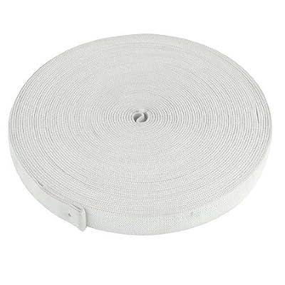 15 mm Breite Weiß 30 M 2987,04 cm geflochten Dyneemaseil Forstseil Windenseil Seilwinde elastischer Bebänderung Puppenkleider Polyester